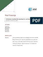 2015-12-15 Rosner Teleconference Transcript