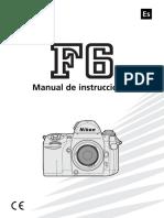 Nikon F6 Manual Español
