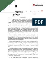 La Jornada- La Tragedia Griega