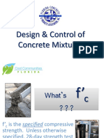 Design Control of Concrete Mixtures
