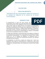 Plan de Tesis - Implementacion del Mantenimiento Preventivo Basado en el Análisis de Vibraciones en el Motor de 401 HP