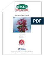 Spring Flowering Trees and Shrubs