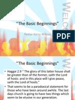 The Basic Beginnings