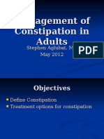 Assessment of Constipation in Adults