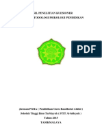 Hasil Penelitian Kuesioner Dalam Metodologi Psikologi Pendidikan
