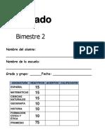 examen 5to Grado - bimestre 2