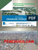 Materi Pelatihan Drainase Perkotaan Teknik Sipil Ftsp-its, 8 Oktober 2014 Ecodrain