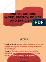 Work, Energy and Efficiency