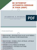 Ergonomi Ditempat Kerja Kaitannya Dengan Low Back Pain