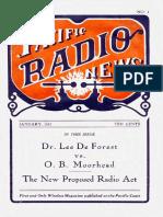 Pacific Radio Vol 1 1 Jan 1917