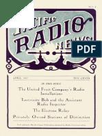 Pacific Radio Vol 1 4 Apr 1917