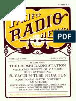 Pacific Radio Vol 1 7 Feb 1920