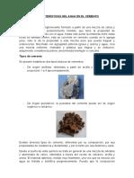 Características Del Agua en El Cemento