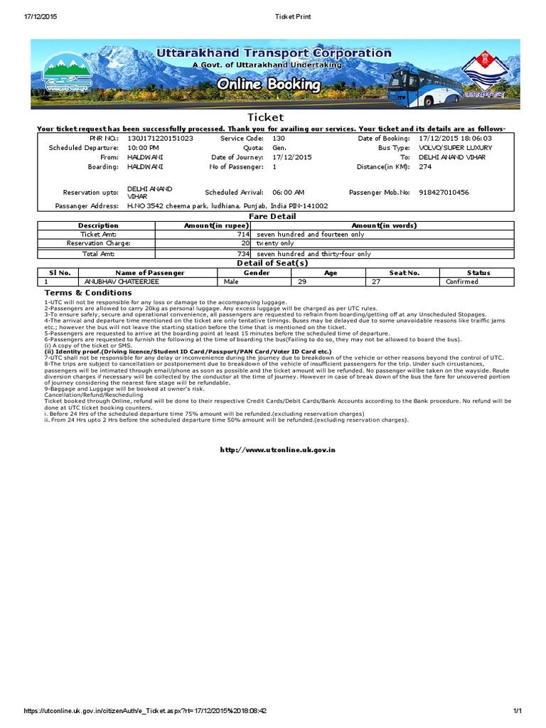 Ticket Print | Ticket (Admission) | Identity Document