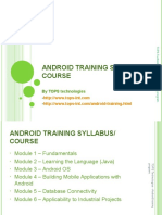 14-03-2013 Android Course and Syllabus