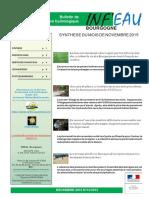 Le point sur la situation des réserves en eau en Bourgogne en décembre 2015