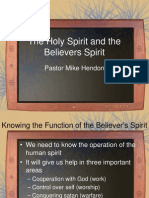 The Holy Spirit and the Believers Spirit