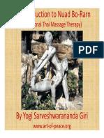 Introduction Thai Massage Therapy Yogi Sarveshwarananda