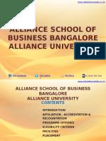 Alliance School of Business Bangalore – Alliance University