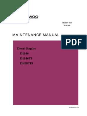 DOOSAN : DAEWOO D1146 | Internal Combustion Engine ... on