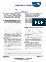 Bill Summary- Electricity Bill, 2014