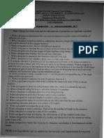 Semester II Practicals List