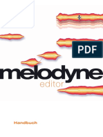 Manual Melodyne Editor German