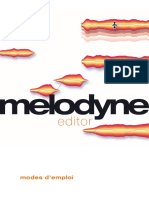 Manual Melodyne Editor French