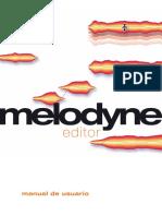 Manual Melodyne Editor Spanish