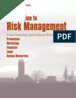 Risk Management Agriculture