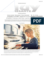 Enseñar Música e Idiomas, Cuanto Antes Mejor