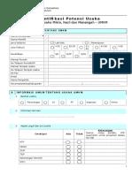 Form Identifikasi Umkm