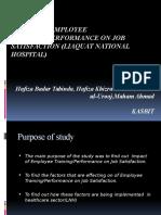 research on impact of employee pefrformance on job satisfaction