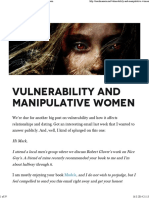 Vulnerability and Manipulative Women