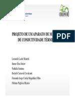 Projeto de Um Aparato de Medição de Condutividade Termica