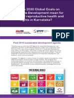 What do 2030 Global Goals on Sustainable Development mean for sexual and reproductive health and rights in Karnataka?