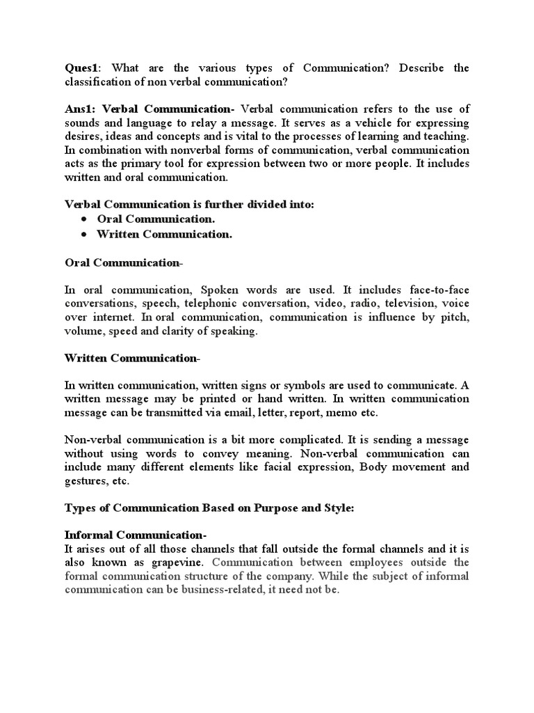 Business Communication Nonverbal Communication Communication