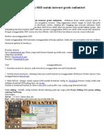 Tutorial menggunakan SSH untuk internet gratis unlimited.docx
