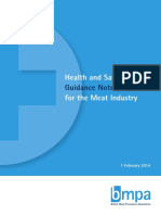 Health and Safety Guidance Notes for the Meat Industry
