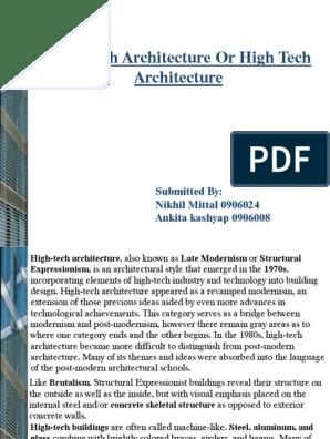 11 High Tech Architecture Pdf Architectural Design Architecture
