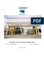 Contrat de Transport Aérien