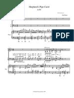 Shepherd's Pipe Carol SATB + piano TRANSPOSED - Eb