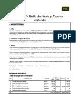 Presupuesto Nacional 2014 - Ramo de Medio Ambiente y Recursos Naturales El Salvador