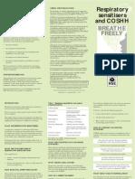 Indg95 - Respiratory Sensitisers and COSHH