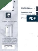 Sharp Air Purifier FP-F40E User Manual