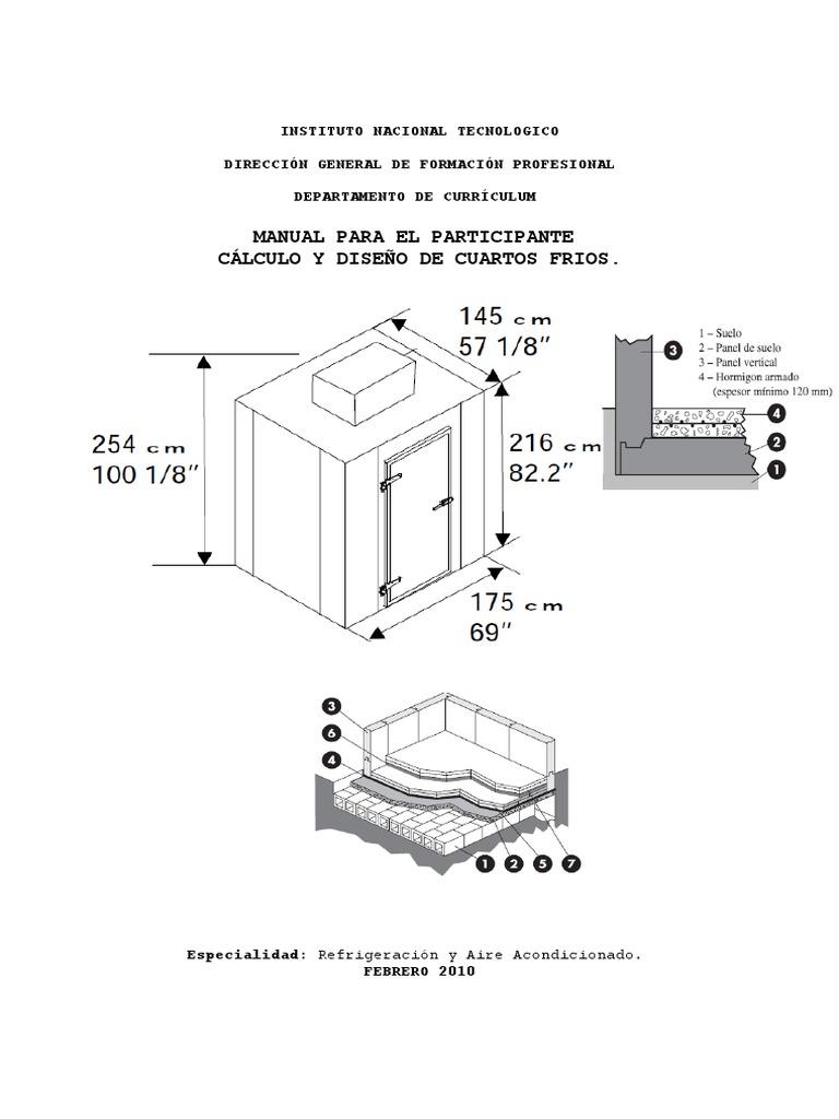 Manual de calculo y dise o de cuarto frios for Instituto puerta de cuartos