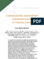 Comunicazione, nazionalismo e modernizzazione in América Latina