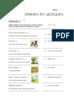 Nederlands - Spreekwoorden - Werkblad