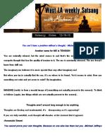 Satsang Notes 12-16-15