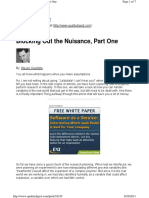 DOE - Blocking out the Nuisance - Part One.pdf